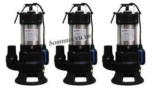 Các mẫu máy bơm chìm nước thải Showfou